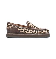 See By Chloe Leopard Print Christie Loafers