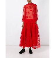 Simone Rocha Floral Embroidery Tulle Skirt