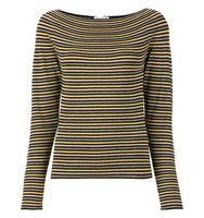 Sonia Rykiel Boat Neck Striped Blouse