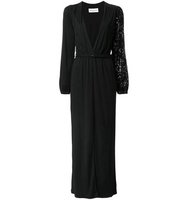Sonia Rykiel Deep V Neck Belted Dress