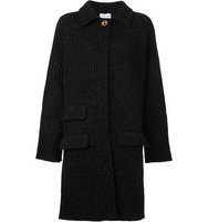 Sonia Rykiel Flocked Ribbed Cardi Coat