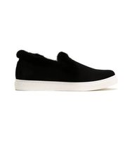 Sonia Rykiel Fur Trim Slip On Sneakers