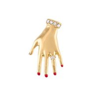 Sonia Rykiel Jewelled Hand Brooch
