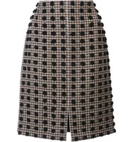 Sonia Rykiel Plaid Pattern Straight Skirt