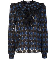 Sonia Rykiel Polka Dot Semi Sheer Blouse