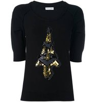 Sonia Rykiel Sequined Tour Eiffel Patch Jumper