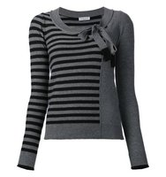 Sonia Rykiel Striped Bow Collar Jumper