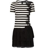 Thakoon Pleated Hem Striped Dress