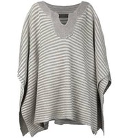 The Elder Statesman Cashmere Striped Poncho