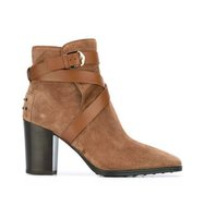 Tods Criss Cross Strap Boots