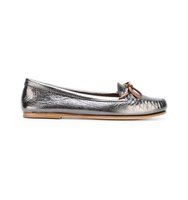 Tomas Maier Metallic Grey Tie Loafers