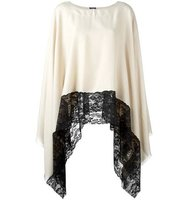 Twin Set Lace Trim Poncho