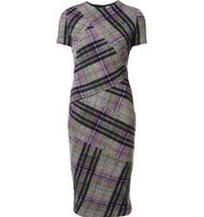 Victoria Beckham Checked Fitted Dress