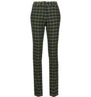 Victoria Beckham Checked Slim Fit Trousers