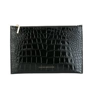 Victoria Beckham Embossed Crocodile Effect Clutch