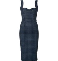 Victoria Beckham Fitted Tweed Dress