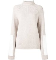 Victoria Beckham High Neck Colour Block Jumper