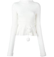 Victoria Beckham Longsleeved Ribbed Knitted Blouse