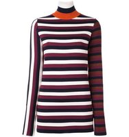 Victoria Beckham Striped High Neck Jumper