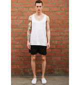 Forever21 Bellfield Lightning Print Swim Trunks Black White