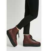 Forever21 Platform High Tops Burgundy