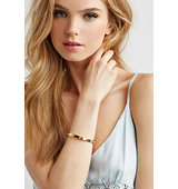 Forever21 Wanderlust Co Multi Stud Bangle Gold One