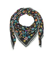 Missoni Black Signature Frame Cashmere and Modal Wrap