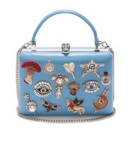 Alexander Mcqueen Embroidered Dreams Handle Box Clutch