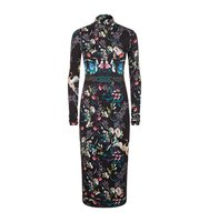 Alice Olivia Delora Turtleneck Printed Dress