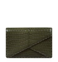 Bottega Veneta Crocodile Skin Envelope Clutch
