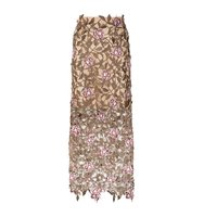 Christopher Kane Embroidered Rose Midi Skirt