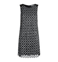 Diane Von Furstenberg Joylyn Sequin Lattice Dress