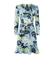 Erdem Judy Floral Neoprene Jersey Dress