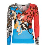 Etro Floral Paisley Silk Cashmere Sweater