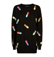 Moschino Pill Print Jumper Dress