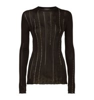 Nina Ricci Chain Detail Round Neck Jumper