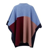 Sandro Nora Colour Block Poncho