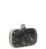 Alexander McQueen Skull crystal embellished box clutch