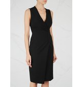 Alice and Olivia Carissa black wrap effect dress