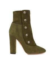 Aquazzura Private army green suede ankle boots