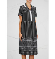 Carven Black printed silk dress
