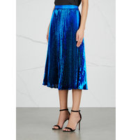 Christopher Kane Blue pliss lam skirt