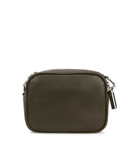 Christopher Kane Campbell dark green leather shoulder bag