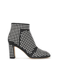 Christopher Kane Grey studded suede ankle boots