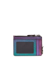 Coach New York Iridescent grained leather coin purse