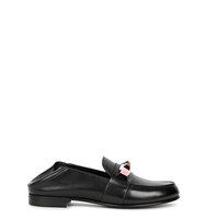 Fendi Black embellished leather loafers