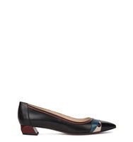 Fendi Monster black leather flats