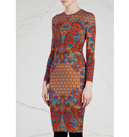 Givenchy Printed stretch jersey dress