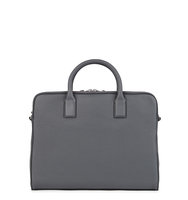 HUGO BOSS BLACK Charcoal grained leather briefcase