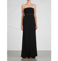 Halston Heritage Black belted gown